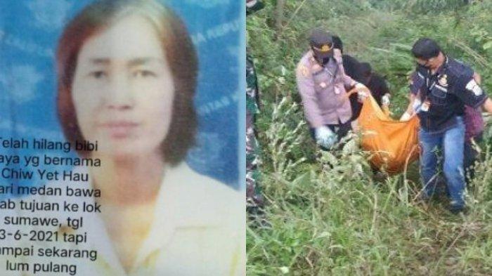 CYH (58), sopir taksi online yang dibunuh dan mayatnya dibuang ke jurang dan ditemukan di lereng Gunung Salak, Km 31, Nisam Antara, Aceh Utara, Minggu (6/6/2021).