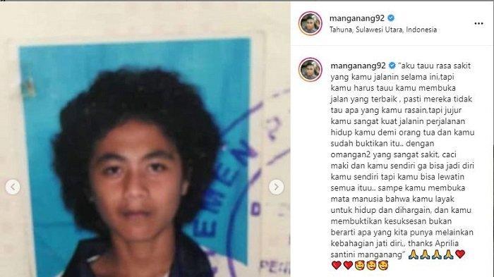 Eks atlet voli putri, Aprilio Perkasa Manganang membagikan cerita masa lalunya, di akun media sosial Instagram miliknya @manganang92, Kamis (29/7/2021).