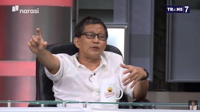 Pengamat politik Rocky Gerung dalam acara Mata Najwa, Rabu (9/6/2021) malam. Rocky menuding PAN tengah cari muka ke Istana.
