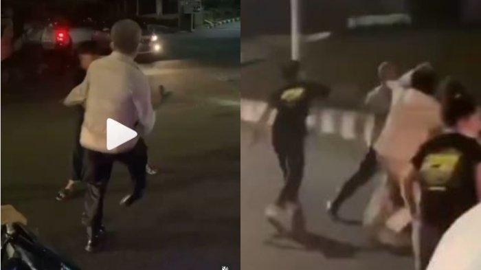 Viral video seorang anggota polisi dikeroyok oleh sejumlah pemuda saat hendak membubarkan aksi balap liar di Jalan TB Simatupang, Jakarta Selatan, Kamis (8/7/2021).