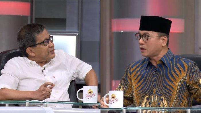 Pengamat politik Rocky Gerung dan Ketua Komisi VIII DPR RI Fraksi PAN, Yandri Susanto beradu argumen dalam acara Mata Najwa, Rabu (9/6/2021) malam.