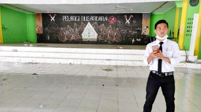 Aula Pesantrean Darul Arafah yang menjadi lokasi penganiayaan Furqan Wahyu Alfatah, Senin (7/6/2021).