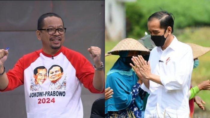 Penasihat komunitas JokPro 2024 M Qodari (kiri) dan Presiden RI Joko Widodo (kanan). Qodari dan komunitas JokPro 2024 mengusulkan agar Presiden Jokowi kembali maju di tahun 2024 untuk menjabat sebagai RI 1.