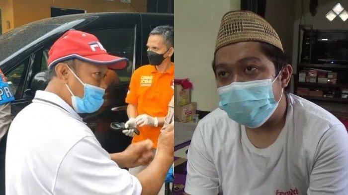 Foto kiri: Yosef memberi kesaksian pada Kapolres Subang AKBP Sumarni saat pertama kali menemukan jasad Tuti dan Amalia Mustika Ratu dalam bagasi mobil di rumahnya, Desa Jalan Cagak, Subang, Jawa Barat Rabu (18/8/2021). foto kanan: Yoris (34), anak sulung sekaligus kakak dari korban pembunuhan ibu dan anak di Subang saat ditemui pada Jumat (17/9/2021).
