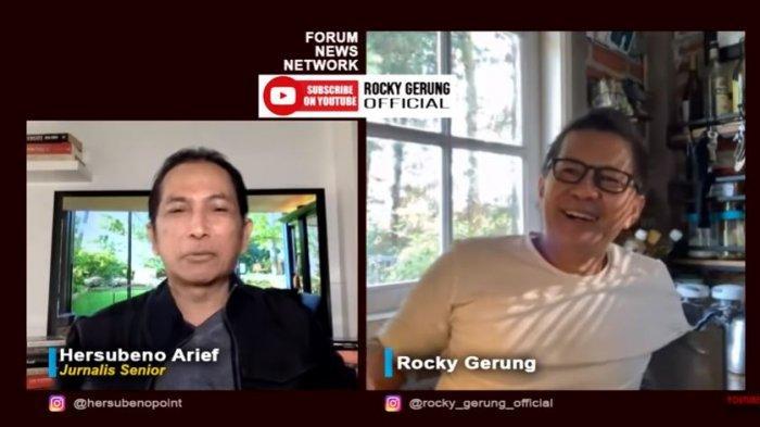 Pengamat politik Rocky Gerung ikut mengomentari kontroversi Rektor Universitas Indonesia (UI) Ari Kuncoro rangkap jabatan, Rabu (21/7/2021).