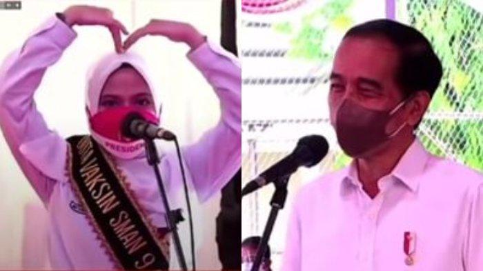 Kutip Kata-kata Dilan saat Curhat Rindu Sekolah, Siswi SMA N 9 Gowa Buat Jokowi Tersenyum