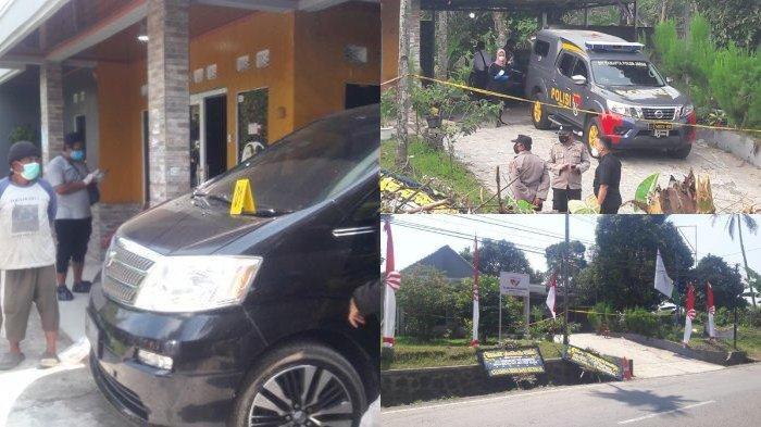 Foto kanan: Polisi berada di lokasi kejadian pembunuhan Tuti dan Amalia di Kampung Ciseuti, Desa/Kecamatan Jalan Cagak, Kabupaten Subang, Jawa Barat, Senin (30/8/2021).