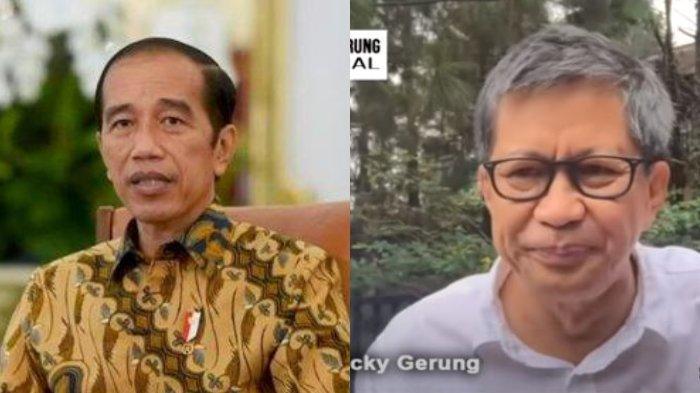 Presiden Jokowi Tolak Wacana 3 Periode, Pakar Politik Rocky Gerung Menilai Sebaliknya