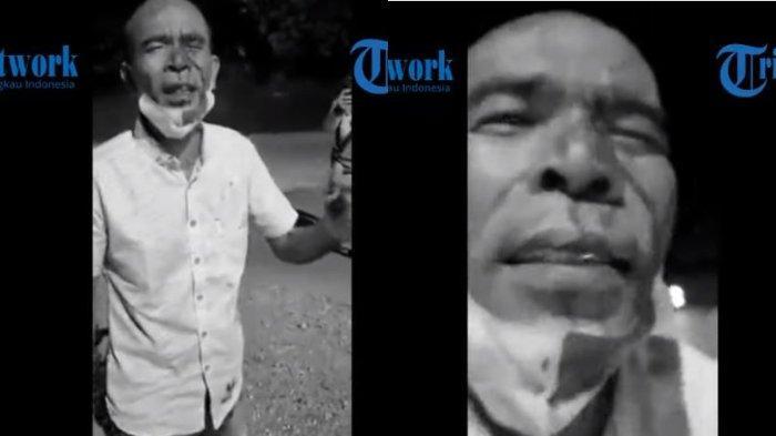 Viral video mantan Anggota DPRD Tapanuli Tengah bernama Awaluddin Rao mengaku tertusuk pena setelah mendapat perlakuan kasar dari aparat penjaga Pos PPKM Padang pada Jumat (16/7/2021).