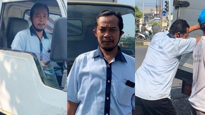 Penemu uang Rp 10 juta Joko Wardoyo (40) warga Dukuh Serut, Kelurahan Popongan, Kecamatan Karanganyar yang sehari-hari menjadi sopir di sebuah perusahaan, Kamis (8/4/2021).