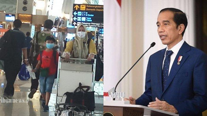 BANDARA RAMAI JELANG LIBURAN - Calon penumpang pesawat memenuhi areal Terminal 3 Bandara Soekarno Hatta, yang akan berangkat mudik maupun liburan Nataru ke kampung halamannya, Rabu (17/12/2020). Terbaru, Presiden RI Joko Widodo melarang masyarakat mudik pada 6-17 Mei nanti demi menghindari membludaknya kenaikan kasus Covid-19.