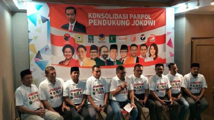 Sekjen 9 Parpol Koalisi Jokowi Bertemu, Siapkan 25 Jubir Tiap Partai hingga Pamer Kaus Dukungan
