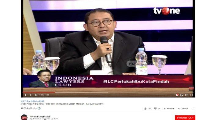 Sebut Jokowi Pernah 3 Kali Sampaikan Gagasan Pemindahan Ibu Kota, Fadli Zon: Kasihan Negara Ini