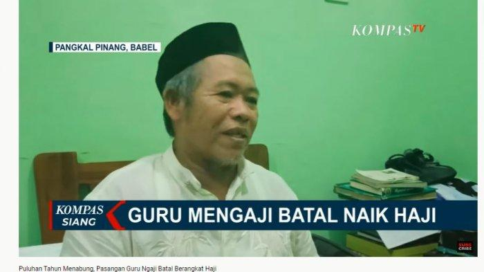Puluhan Tahun Menabung demi Tunaikan Ibadah Haji, Pasangan Guru Ngaji Ikhlas Batal Berangkat