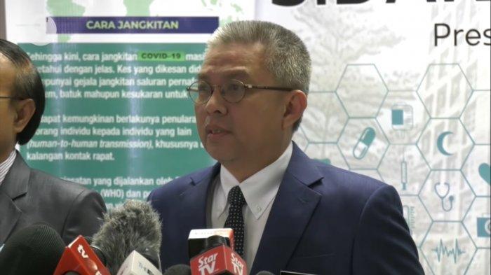 Dato' Sri Dr. Adham Baba dalam konferensi pers pada Senin (15/3/2021).