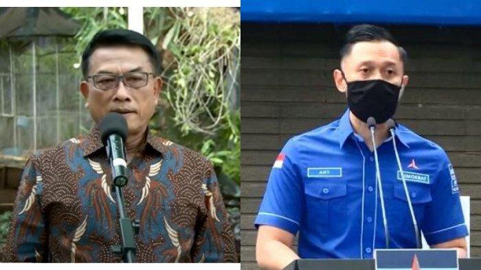 Kepala KSP Moeldoko (kiri) dituding ingin mengambil alih kekuasaan Partai Demokrat dari Ketum Demokrat Agus Harimurti Yudhoyono (AHY) (kanan).