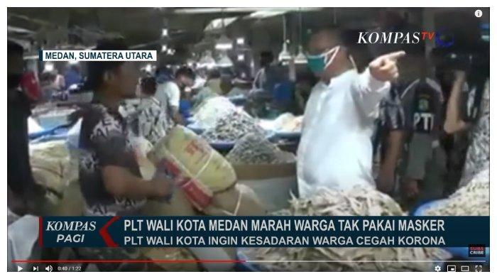 Lihat Aksi Plt Walkot Medan saat Sidak, 'Ngamuk'  hingga Usir Warga yang Tak Pakai Masker di Pasar