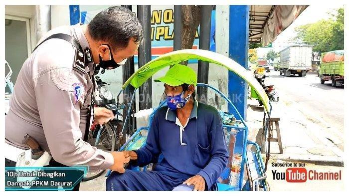 Sosok Aipda Purnomo, Polisi yang Bagi-bagi Uang Total Rp 10 Juta pada Tukang Becak hingga Pedagang