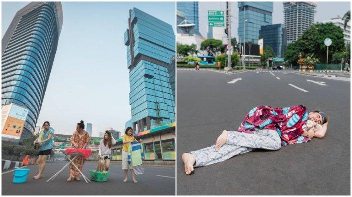Jakarta Sepi Ditinggal Mudik Penghuninya, Berikut 10 Potret Aktivitas Warga di Jalanan Ibukota