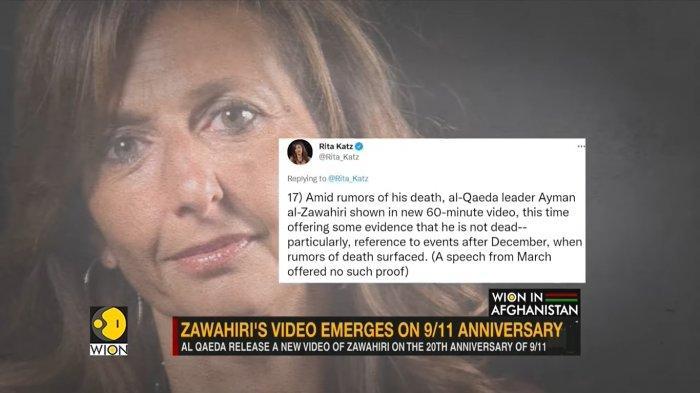 Direktur SITE Intelligence Group, Rita Katz menulis di akun Twitternya tentang al-Zawahiri.