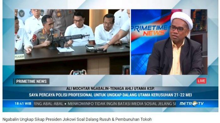 Reaksi Ali Ngabalin soal IPW yang Sebut Dalang Aksi 22 Mei Merupakan Pengusaha dan Tokoh Berpengaruh