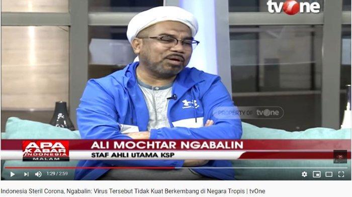 Ditanya Mengapa Indonesia Masih Santai Hadapi Corona, Ali Ngabalin Ungkap RI Negara Tropis