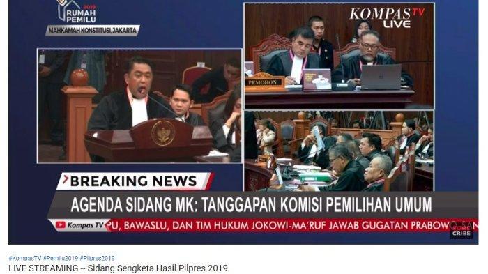 Kuasa Hukum Komisi Pemilihan Umum (KPU), Ali Nurdin menjelaskan ada permohonan yang dinilai mengada-ada dari kubu pemohon, Prabowo Subianto-Sandiaga Uno, Selasa (18/6/2019).