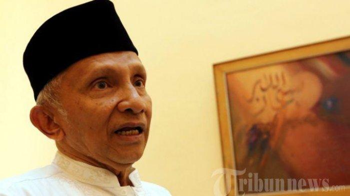Soal Pertemuan Jokowi-Prabowo, Amien Rais: Saya Belum Tahu, Mengapa Kok Tiba-tiba Nyelonong?