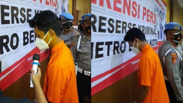 Anak Anggota DPRD Kota Bekasi tersangka kasus pencabulan gadis 15 tahun berinisial PU.