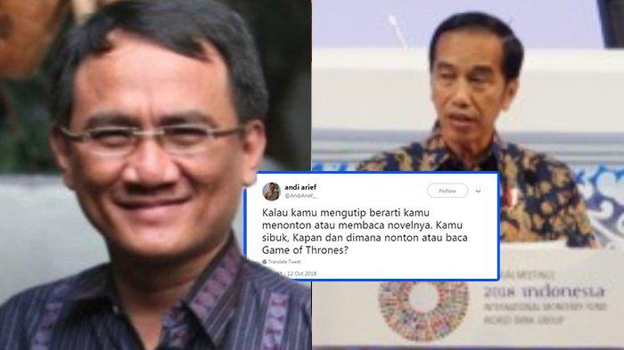 Sindir Pidato Jokowi di Pertemuan IMF-WB 2018, Andi Arief: Kapan Nonton Game of Thrones?