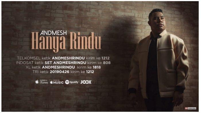 Lirik Lagu dan Kunci Chord Gitar Hanya Rindu - Andmesh Kamaleng: Kuingin saat Ini Engkau Ada di Sini