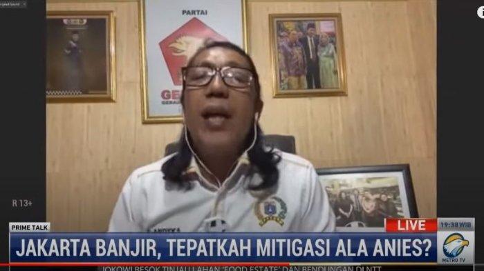 Wakil Ketua Fraksi Gerindra DPRD DKI Jakarta, S. Andyka menyebut, masalah politik menjadi penghambat sinergi antara pusat dan pemprov DKI Jakarta dalam mengatasi banjir, ditayangkan di acara PRIME TALK metrotvnews, Selasa (23/2/2021).