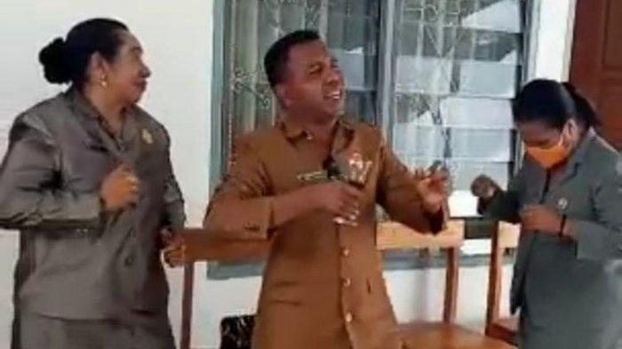 Fakta Viral Video Anggota Dewan Bernyanyi dan Berjoget di Kantor DPRD Malaka, BK Turun Tangan