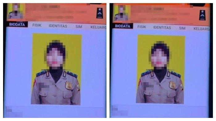 Foto anggota Polwan Polda Maluku Utara yang diduga terpapar paham radikalisme