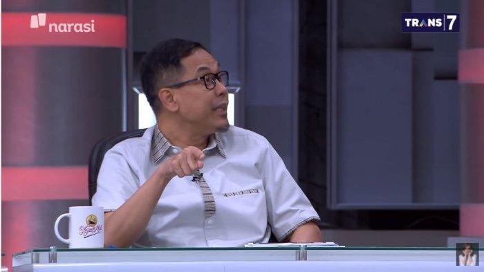 Eks Sekretaris Umum FPI Munarman dalam acara Mata Najwa, Rabu (7/4/2021) malam.