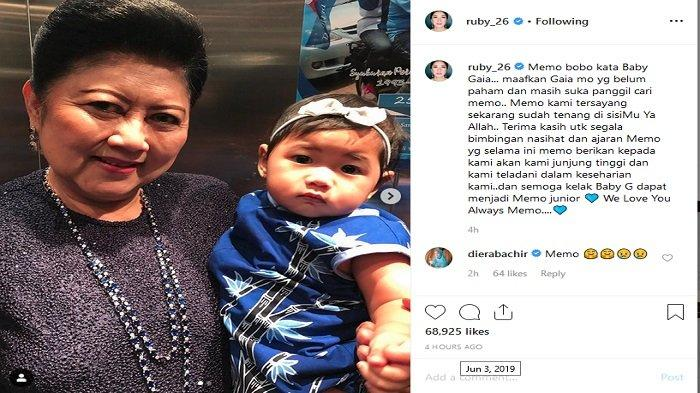 Ani Yudhoyono dan Baby Gaia