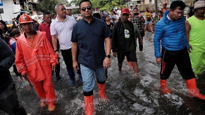Jakarta Banjir Lagi, Gerindra Sindir Anies Baswedan dan Bandingkan dengan Jokowi: Dia Hadir