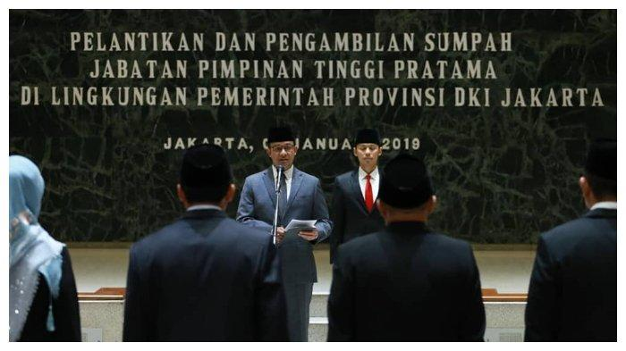 Lantik 7 Pejabat di Lingkungan Pemprov DKI, Anies Ingin ASN DKI Jakarta Bisa Jadi Contoh Daerah Lain