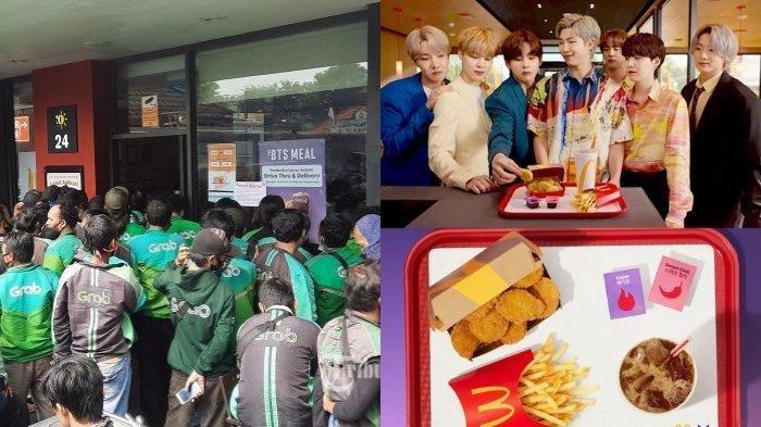 Antrean BTS Meal membludak di hari pertama perilisannya, Rabu (9/6/2021).
