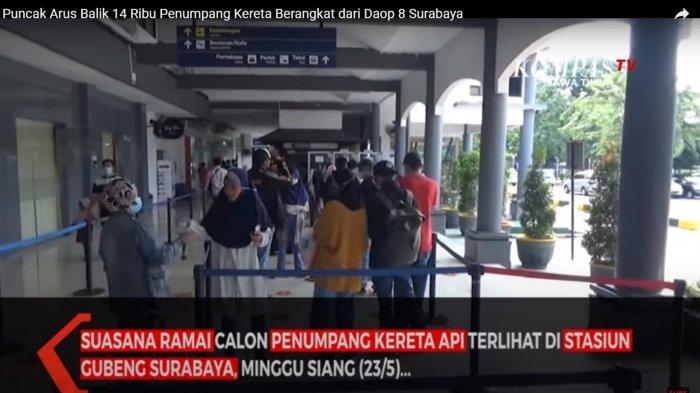 Puncak Arus Balik, Penumpang Padati Antrean Tes GeNose di Stasiun Gubeng Surabaya