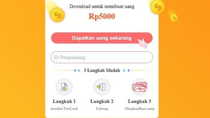 Aplikasi penghasil uang Funluck