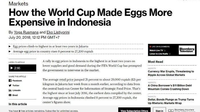 Artikel dari Bloomberg