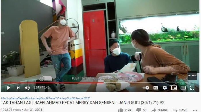 Asisten Raffi Ahmad, Merry langsung mendatangi Nagita Slavina setelah dipecat Raffi, Minggu (31/01/2021).