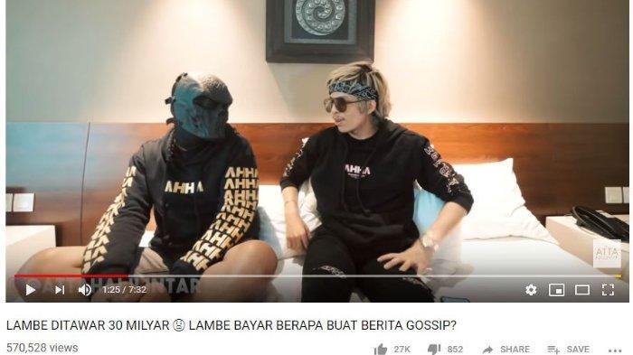 Atta Halilintar baru-baru ini menggerebek pemilik akun gosip Lambe Turah di sebuah hotel.