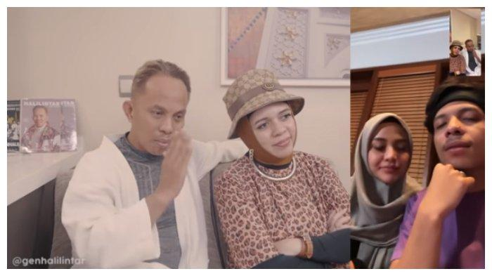 Potret Atta Halilintar dan Aurel Hermansyah dapat wejangan pernikahan dari Halilintar Anofial Asmid dan Lenggogeni Faruk.