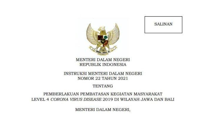 Aturan Lengkap PPKM Level 4 Jawa dan Bali, Berlaku Tanggal 21 - 25 Juli 2021, Ada Pelonggaran