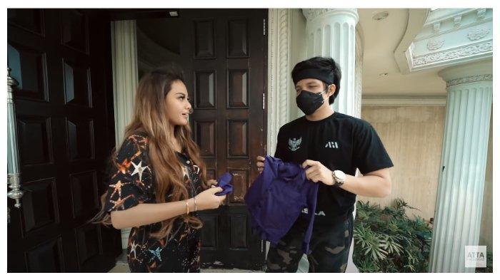Aurel bersama Atta Halilintar kelak di kanal Youtube Atta Halilintar yang diunggah pada Kamis (1/10/2020).