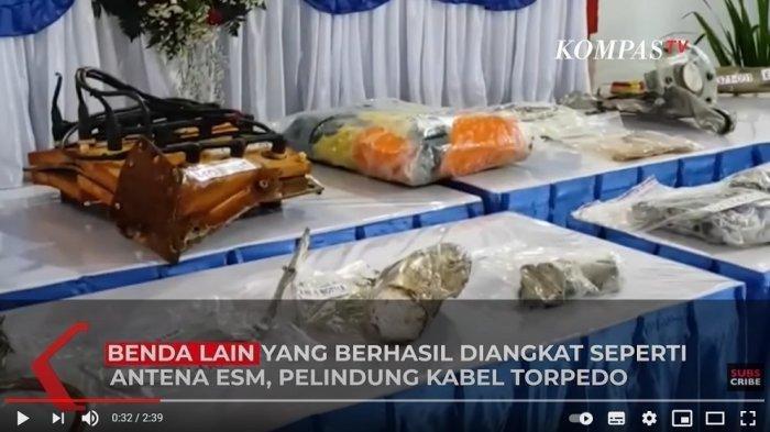 Video Penampakan Puing-puing KRI Nanggala 402 yang Berhasil Diangkat dari Dasar Laut
