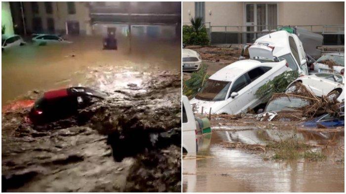 Banjir Bandang Menerjang Kawasan Wisata Mallorca Spanyol, 10 Orang Tewas, 1 Anak Hilang