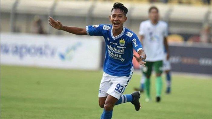 Beckham Putra Nugraha, berhasil cetak gol pada menit ke-79 dalam leg kedua babak 32 besar Persib vs Persiwa